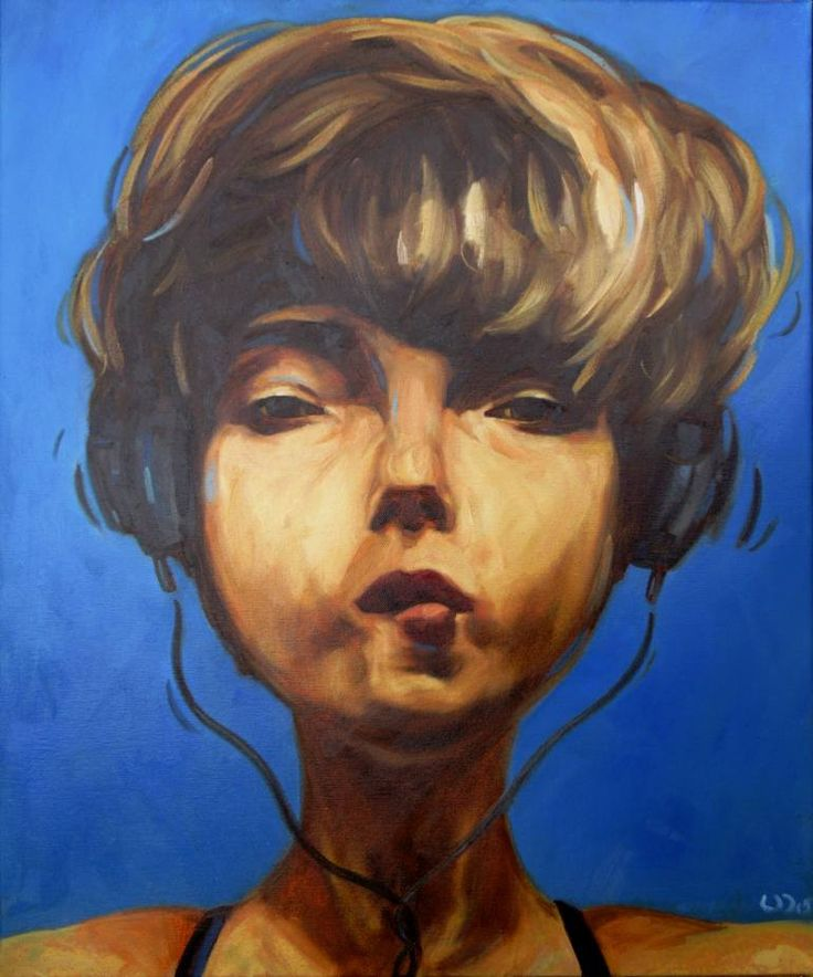 "Saatchi Art Artist Daniel Wimmer; Painting, ""Hi"" #art"