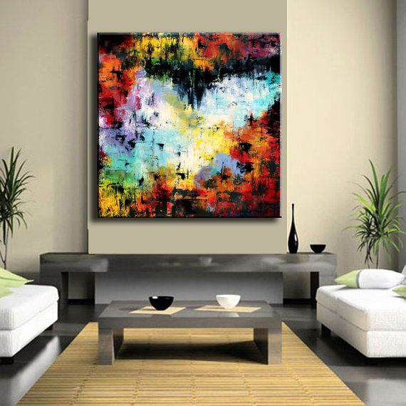 ORIGINAL Enormous 48 x 48 xxl Abstract by ModernArtHomeDecor