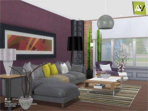 The Sims Resource Newark Living Room By Artvitalex Sims