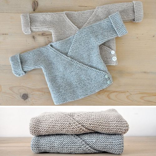 Baby Cardigan - Free Pattern This knit pattern / tutorial is available for free... Full Post: Baby Cardigan