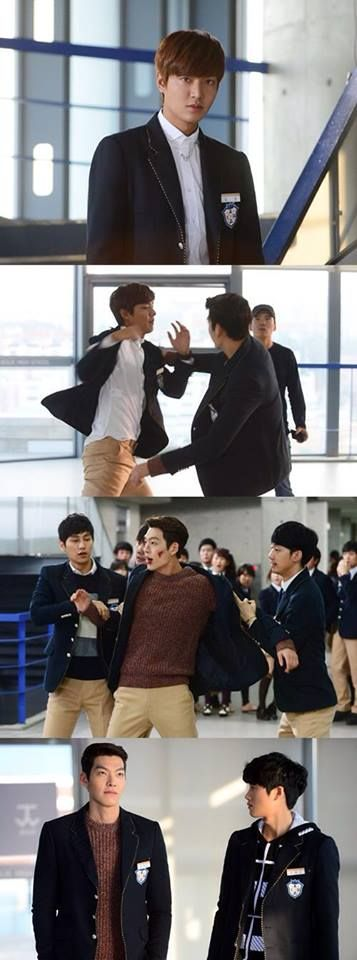 Lee Min Ho and Kim Woo Bin battle to 'win over' the love of the heroine, Park Shin Hye in episode 9 of 'The Heirs'  Watch it now!