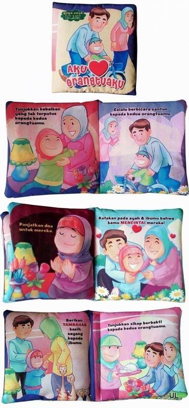 --KODE PRODUK : BB0017-- Deskripsi produk : Softbooks / Buku Bantal : Aku Cinta Orangtuaku Aku Cinta Orangtuaku Ukuran tertutup : 16 x 16,5 cm, 6 hal isi + 2 hal sampul Berisi cara-cara anak dalam memperlakukan orangtua. Dilengkapi dengan gambar & warna yang menarik.  Harga Rp 40.000  ORDER BY SMS 0838-9730-5480 FORMAT SMS : Nama#Alamat lengkap#No.hp#Kode produk#Jumlah# Keterangan#Bank pembayaran yang diinginkan (hanya tersedia BRI dan BCA)