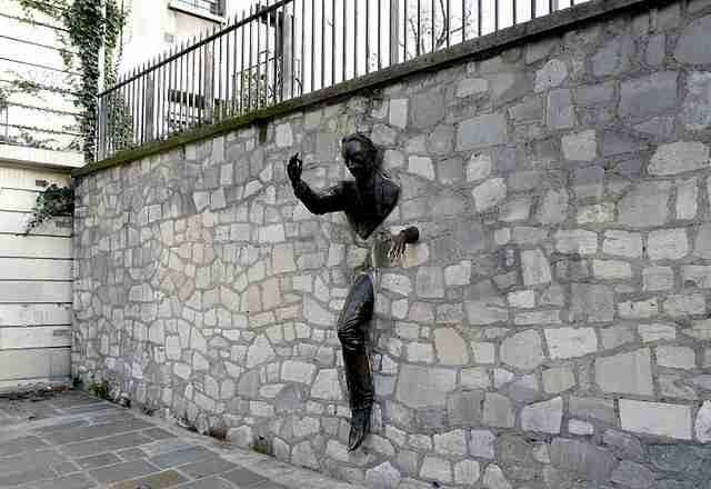 Montmartre -  sculpture by Jean Marais