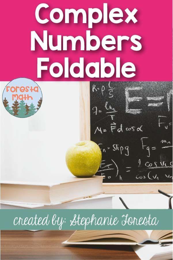 Complex Number Foldable Math Lesson Ideas Complex