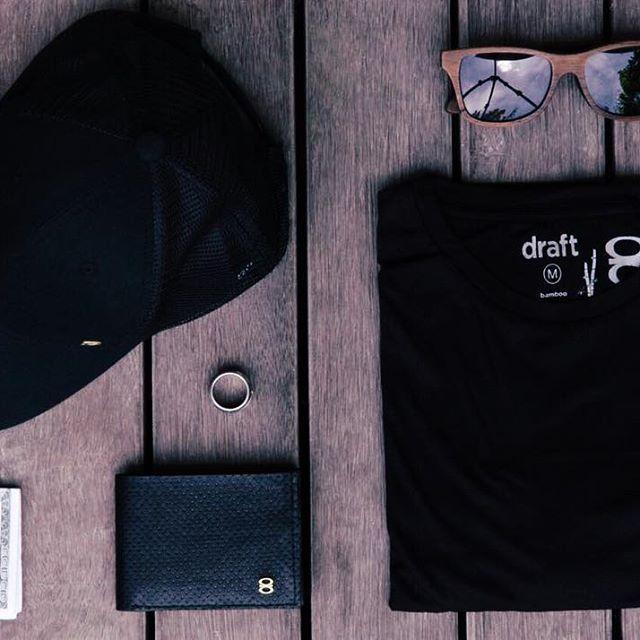 DRAFT8 MENS ESSENTIAL-Draft8 Hat in black -Draft8 money clip -Draft8 wallet - 100% handmade | STYLISH | SIMPLE | ORIGINAL |