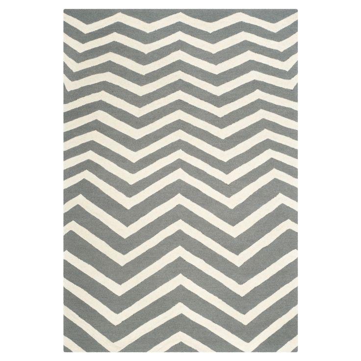 Teppich Edie - Dunkelgrau/Creme - Maße: 182 x 274 cm, Safavieh