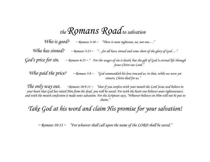 Crazy image in romans road kjv printable