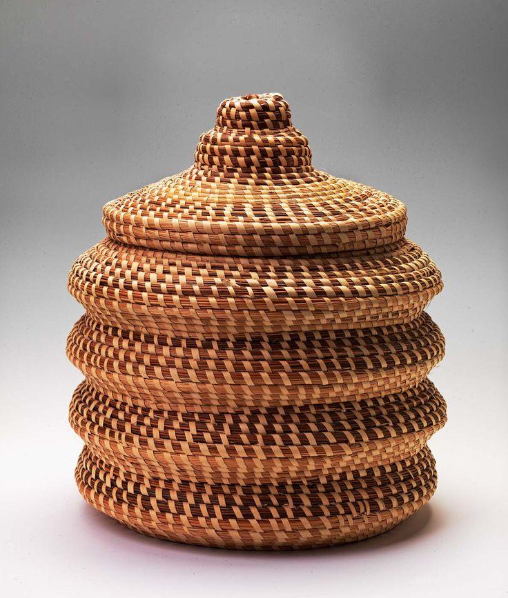 Pine needle American Gullah Woven Basket-The Smithsonian Museum