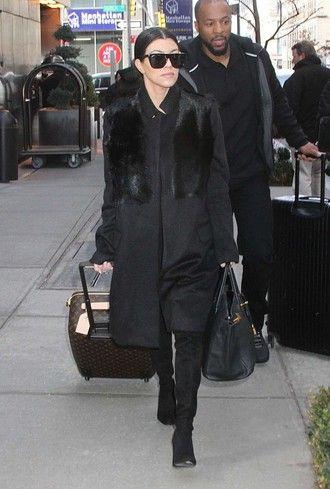 coat kourtney kardashian streetstyle fashion week 2016 ny fashion week 2016