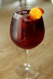 Tinto de Verano! (Summer red wine) is a wine-based cold drink very popular in Spain. http://en.wikipedia.org/wiki/Tinto_de_verano