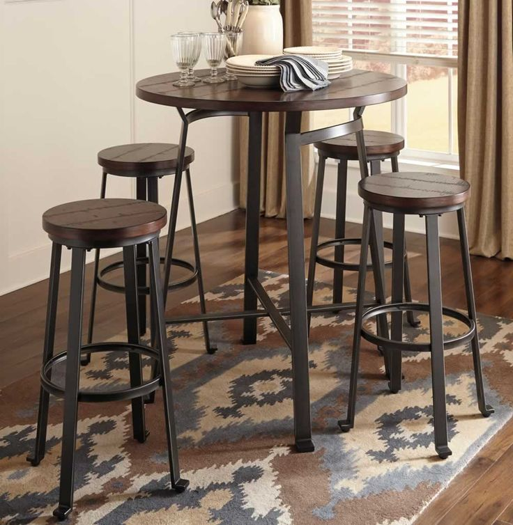 Furniture Round Bar Table Stools Set And Metal Wood Pub Chicago for size 1000 X 1025 Metal Pub Table Sets - How you decorate your desk is all up to you, bu
