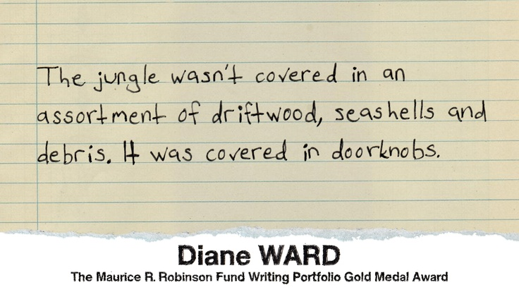 By Diane Ward, 17, Home Schooled, Porfolio Gold Medal for Writing, 2012