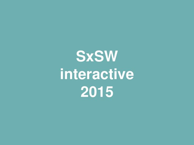 Inclusion and emotion in wearable technology design SxSW Interactive 2015 by Acuity Design via slideshare