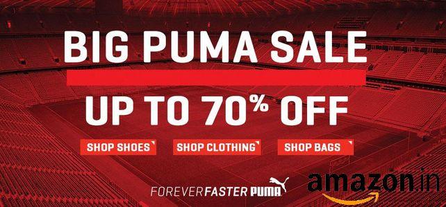 Big Puma Sale Upto 70% OFF On #Puma Shoes, Clothing & Bags at #Amazon