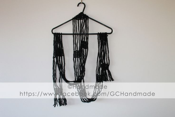Black Post It Scarf