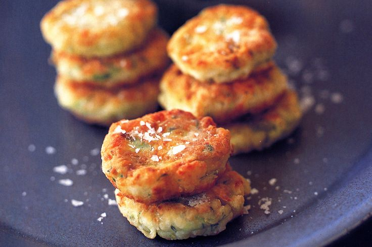Zucchini & Haloumi Fritters Recipe - Taste.com.au  LIKE THEM BUT NEXT TIME WILL USE LESS CHEESE AND PUT GRATED CARROT AS WELL. I had them with sweet chilli sauce