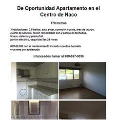 De Oportunidad Apartamento en el Centro de Naco  -Publicidad