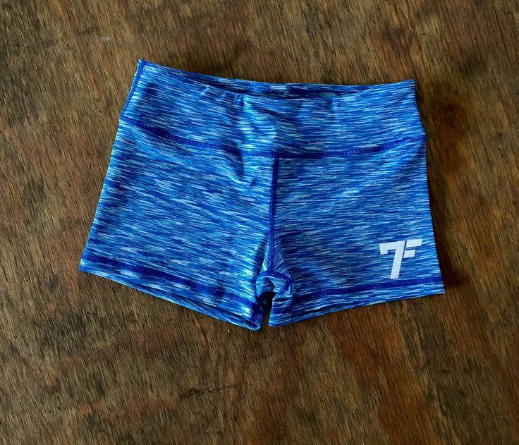 Women's 7Five multi-color tights shorts - LT. BLUE/WHITE