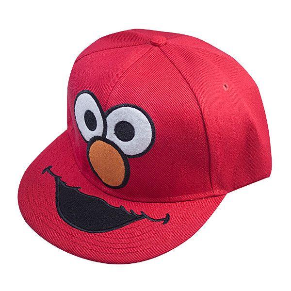 CAPS,Sesame Street Elmo Snapback Cap ($20) ❤ liked on Polyvore featuring accessories, hats, snapbacks, caps, gorras, snapback cap, cap hats, sesame street hats, sesame street and sesame street snapbacks