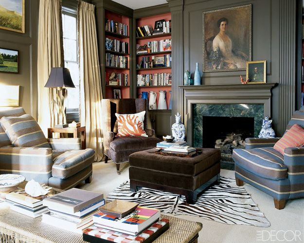 Love it ALL!: Ali Wentworth, Living Rooms, Power Couple, Home Libraries, Elle Decor, Color, George Stephanopoulo, Lee Industrial, Families Rooms
