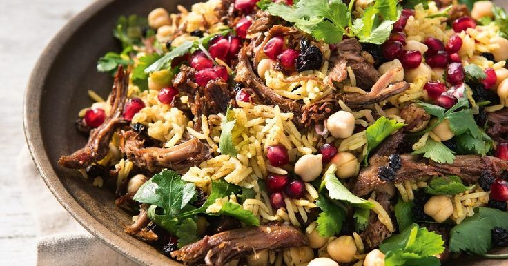 Pan-frying leftover roast lamb with spices to make it golden takes it to another level. This quick and easy Middle Eastern rice dish will become a weeknight dinner favourite with all the family.