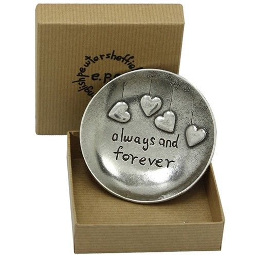 Always and Forever Pewter Trinket Dish  from www.personalisedweddinggifts.co.uk :: ONLY £24.99