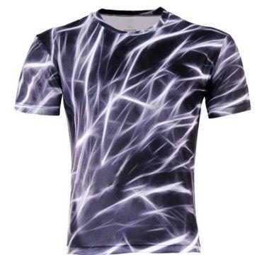Pánská trička s 3D potiskem Blesky – pánská trička – VELIKOST XL Na tento produkt se vztahuje nejen zajímavá sleva, ale také poštovné zdarma! Využij této výhodné nabídky a ušetři na poštovném, stejně jako to …