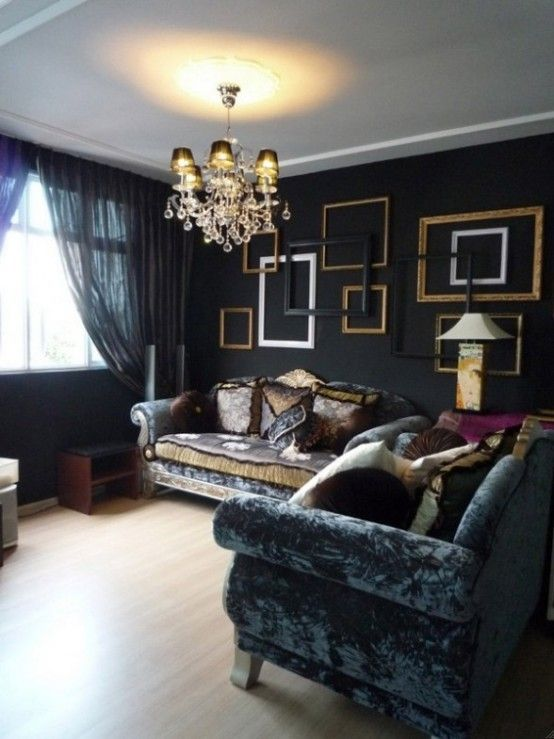 18 Cool Gothic Living Room Designs & 18 Cool Gothic Living Room Designs | lounge | Pinterest | Gothic ...
