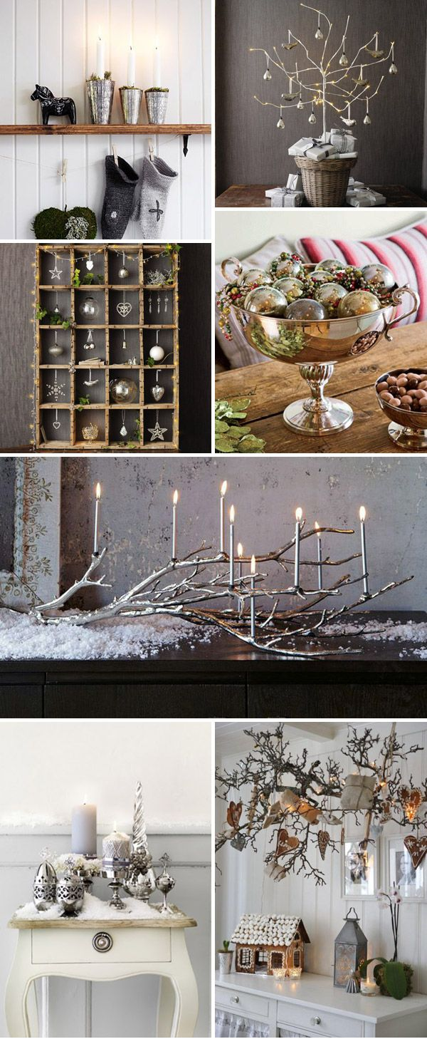 Love this style - Christmas decor.