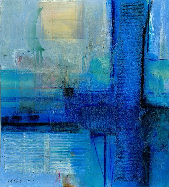 Serene Moments No. 2 ... Large Original Contemporary Modern Zen mixed media art painting by Kathy Morton Stanion EBSQ