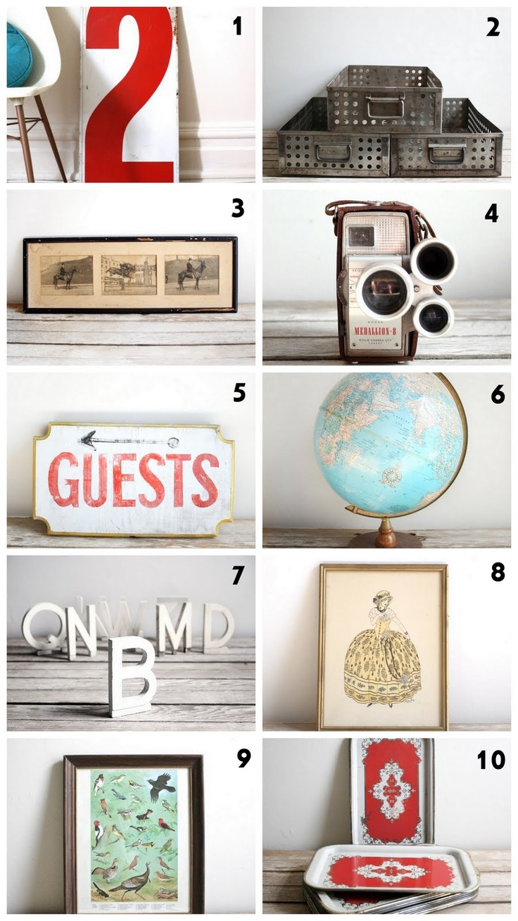 {cute day}: Gift Guide {lackluster co.} Vintage and Industrial Decor