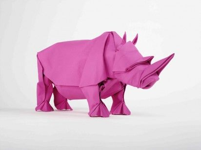 pink rhino origami: Origami Artists, Siphomabona, Origami Paper, Paper Art, Art Prints, And Promise To Origami, Rhinos, Gift Mabona, Mabonaorigami