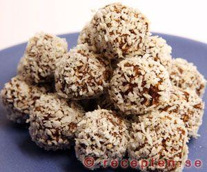 Chokladbollar - Recept på mycket goda chokladbollar! Enkla att göra med bilder steg för steg!