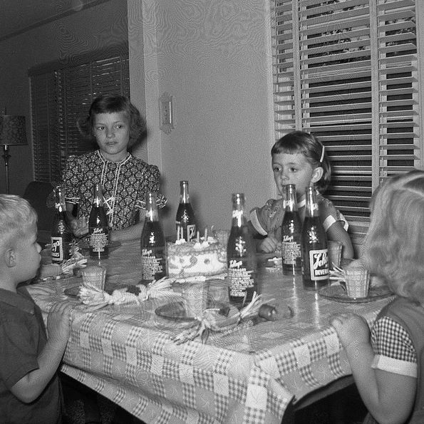 1950s Birthday Party Look At The Glass Soda Bottles At