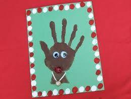 44 best images about handprint art for kids on pinterest for Reindeer christmas card craft