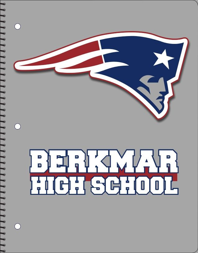 Berkmar High School In Metro Atlanta Wanted To Test Some Notebooks Using A Gray Background And The S Logo Patriot That Is Also Known As
