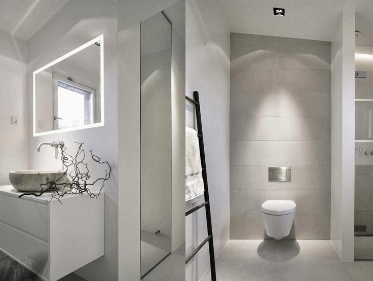 French modern home: Salle de bains moderne blanc