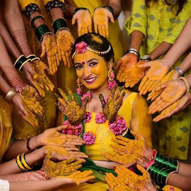Haldi Photography Ideas Indian Wedding Photography Bride Photos Poses Wedding Photoshoot