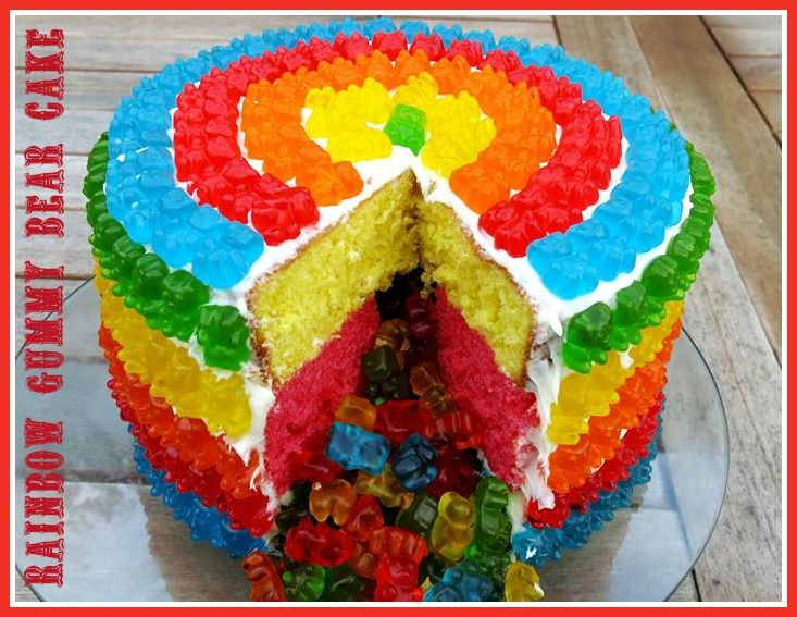 Learn step by step how to make this Rainbow Gummy Bear Pinata Cake. #Rainbowcake #gummybear http://www.ifood.tv/video/rainbow-gummy-bear-pinata-cake