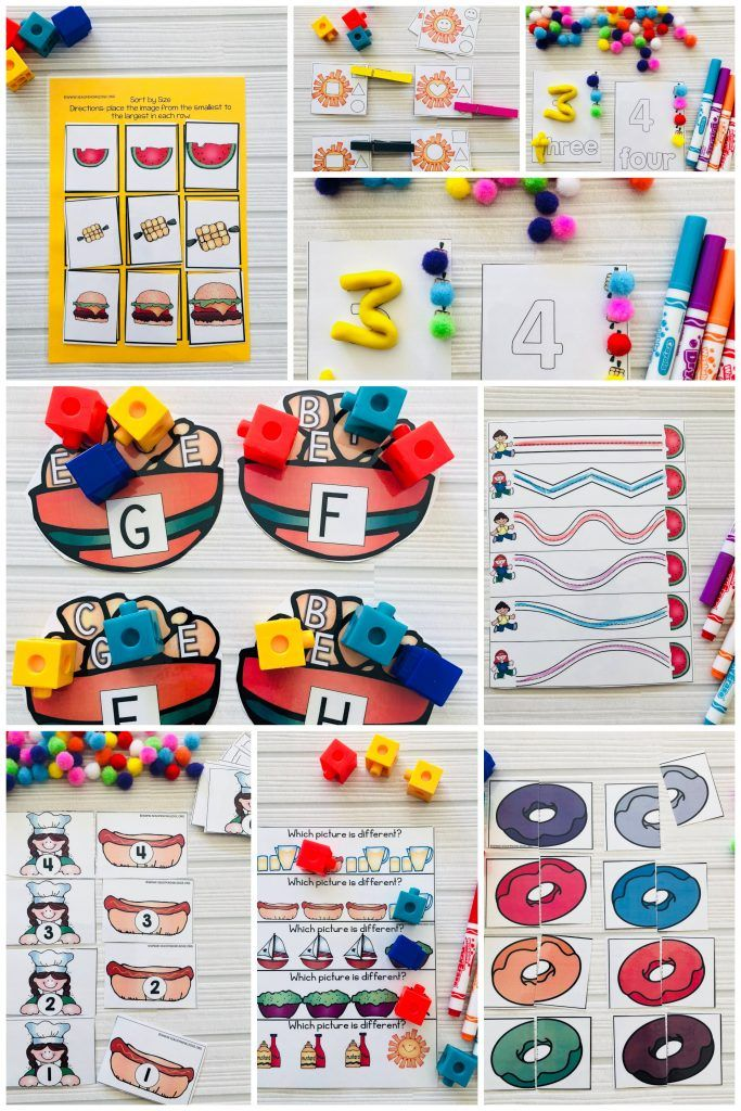 Summer Preschool Math And Literacy Centers And Fine Motor Activities Age 3 Sea Of Knowledge Preschool Crafts Summer Preschool Summer Preschool Crafts
