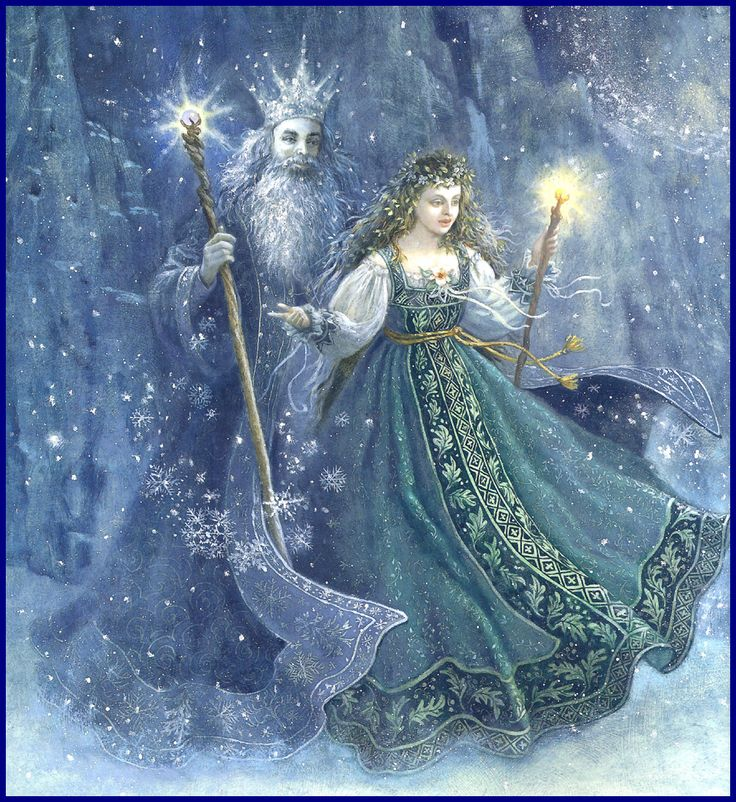 Good Morning Princess In Russian : Father frost and mother spring artwork ruth sanderson