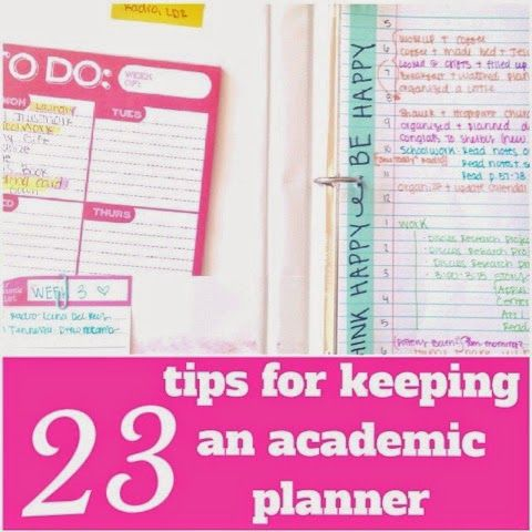 Tips for Keeping an Academic Planner