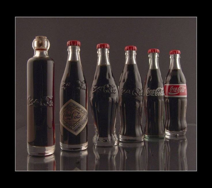 How the Coca-Cola logo and bottles have changed.