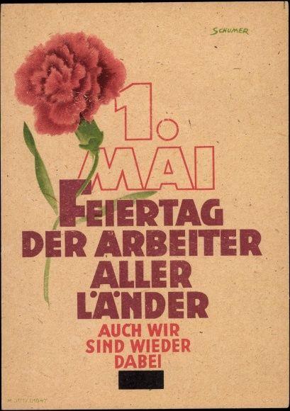 Künstler Ansichtskarte / Postkarte Schumer, 1 Mai, Feiertag der Arbeiter aller Länder... | akpool.de