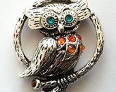 crystalled owl pendant :): Owl Crazy, Crystals Owl, Large Pewter, Awesome Large, Owl Obsession, Pewter Owl,  Bolo,  Bola Ties, Owl Pendants