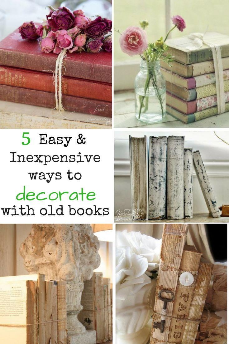 5 Easy Ways to Upcycle and Decorate with Vintage Books