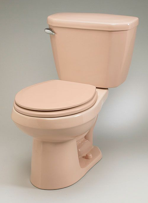 Pink toilet still made today, plus other vintage colors my niece and i have good taste