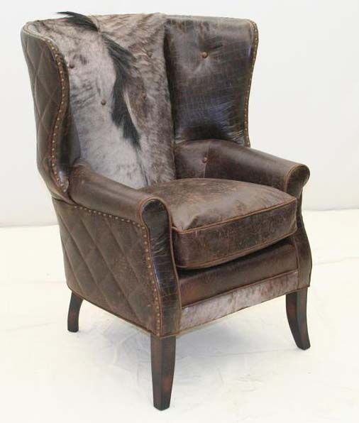 Wild Beast Wing Chair Western Accent Chairs   An Accent Chair That Makes A  Chic Statement