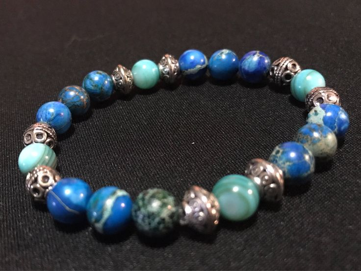 A personal favorite from my Etsy shop https://www.etsy.com/ca/listing/540694179/teal-mala-bracelet