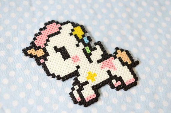Kawaii unicorn hama beads.